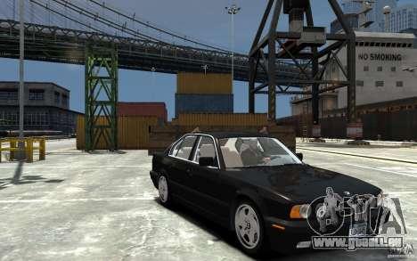BMW 540i E34 v3.0 pour GTA 4 Vue arrière