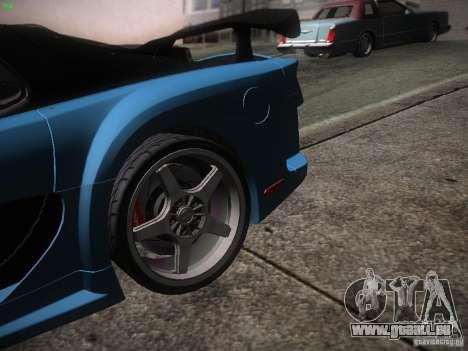 Mazda RX 7 Veil Side pour GTA San Andreas sur la vue arrière gauche