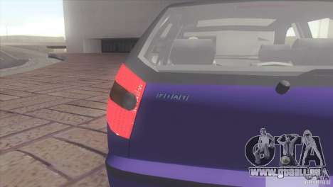 Fiat Palio 16v pour GTA San Andreas sur la vue arrière gauche