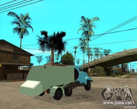 Camion à ordures ZIL 131 pour GTA San Andreas sur la vue arrière gauche