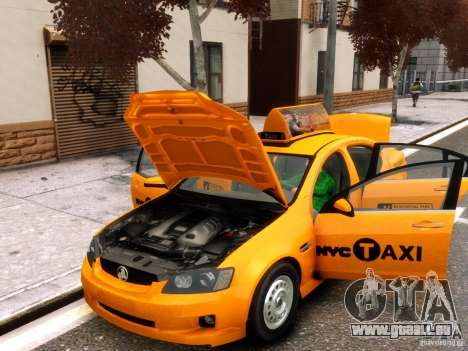 Holden NYC Taxi für GTA 4 Innenansicht