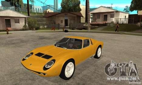 Lamborghini Miura 1966 für GTA San Andreas