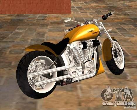 Race chopper by DMC für GTA San Andreas zurück linke Ansicht