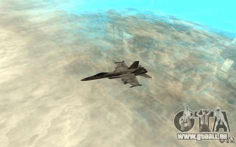 F-18 Hornet pour GTA San Andreas sur la vue arrière gauche