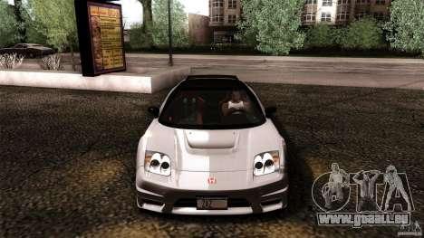 Honda NSX-R 2005 für GTA San Andreas Unteransicht