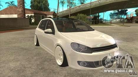 Volkswagen Golf VI 2010 Stance Nation pour GTA San Andreas vue arrière