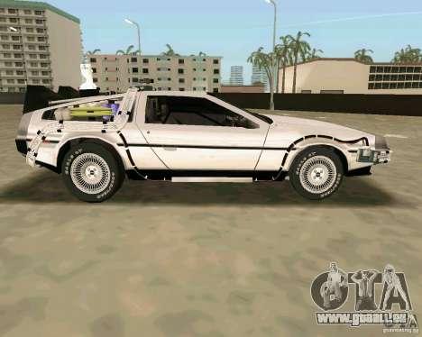 BTTF DeLorean DMC 12 für GTA Vice City Seitenansicht