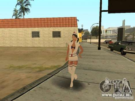 Girlz Medic in Grove für GTA San Andreas