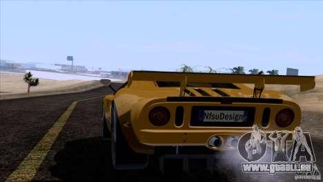 Ford GT Matech GT3 Series für GTA San Andreas Räder