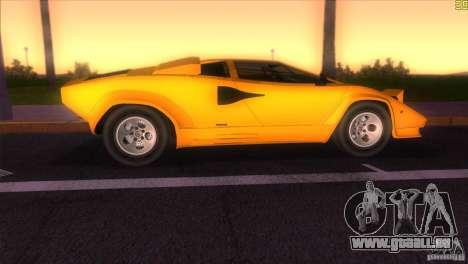 Lamborghini Countach pour GTA Vice City sur la vue arrière gauche