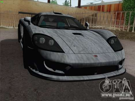 Saleen S7 Twin Turbo Competition Custom für GTA San Andreas Unteransicht