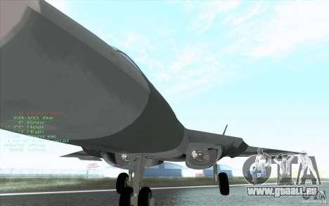 SU t-50 Pak FA für GTA San Andreas Seitenansicht