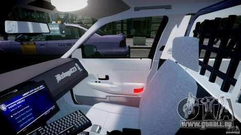 Ford Crown Victoria Fl Highway Patrol Units ELS pour GTA 4 Vue arrière