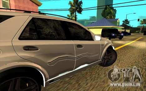 Mercedes-Benz ML63 AMG W165 Brabus pour GTA San Andreas roue