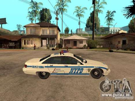 NYPD Chevrolet Caprice Marked Cruiser für GTA San Andreas zurück linke Ansicht