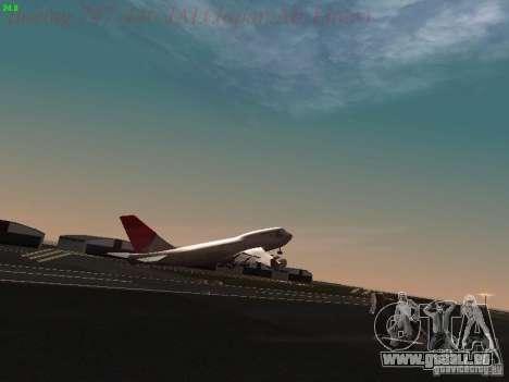 Boeing 747-446 Japan-Airlines pour GTA San Andreas vue de dessous