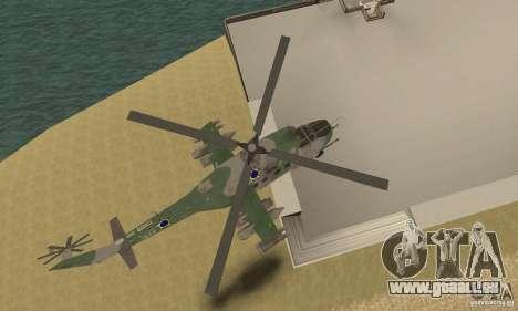 Ein Hubschrauber der globalen Konflikt-Schtorm für GTA San Andreas Innenansicht