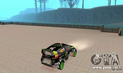 Ford Fiesta 2011 Ken Blocks pour GTA San Andreas laissé vue