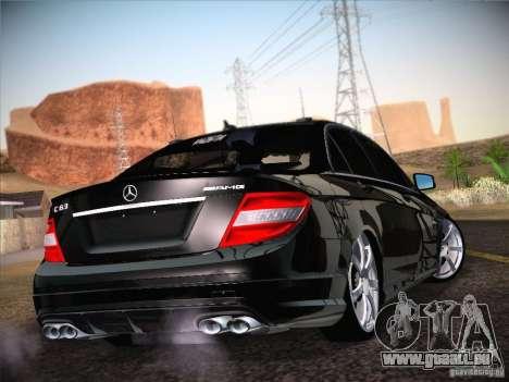 Mercedes-Benz S63 AMG pour GTA San Andreas laissé vue