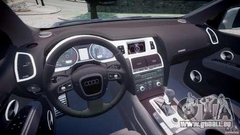 Audi Q7 V12 TDI Quattro Stock  v2.0 für GTA 4 Rückansicht