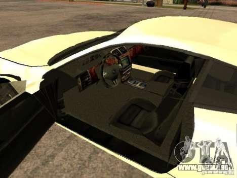 Jaguar XK pour GTA San Andreas sur la vue arrière gauche