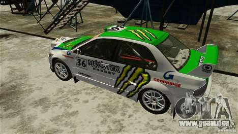 Mitsubishi Lancer Evolution IX RallyCross für GTA 4 hinten links Ansicht