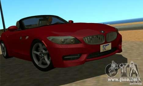 BMW Z4 2010 pour GTA San Andreas laissé vue