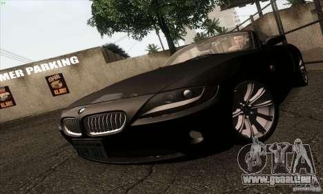 BMW Z4 für GTA San Andreas Innenansicht