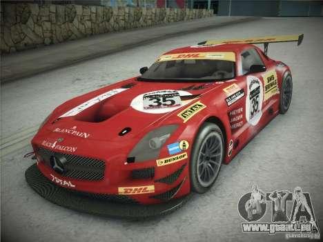 Mercedes-Benz SLS AMG GT3 Black Falcon 2011 pour GTA San Andreas