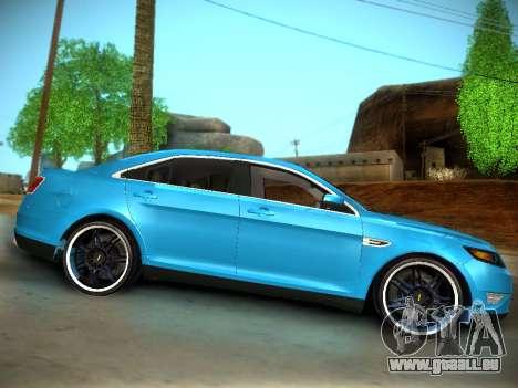 Ford Taurus SHO 2011 pour GTA San Andreas vue arrière