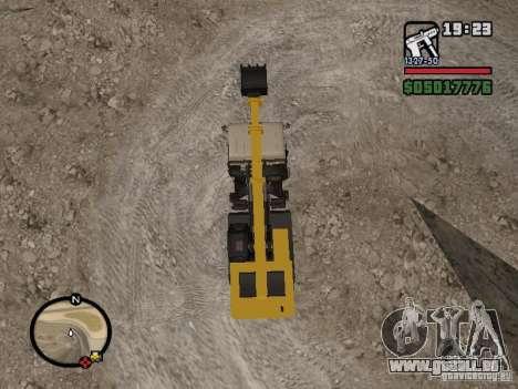 KAMAZ UDS für GTA San Andreas Rückansicht