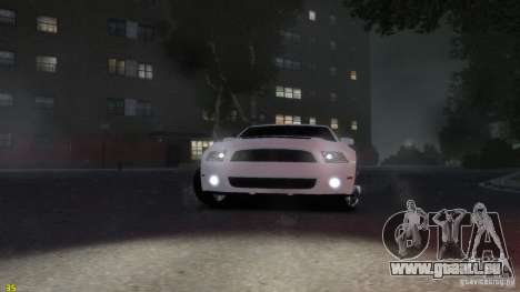 Ford Shelby Mustang GT500 2011 v2.0 pour GTA 4 Vue arrière