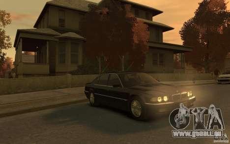 BMW 750iL (E38) v.3 pour GTA 4 Vue arrière