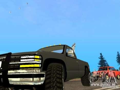 Chevrolet Silverado 2012 pour GTA San Andreas laissé vue