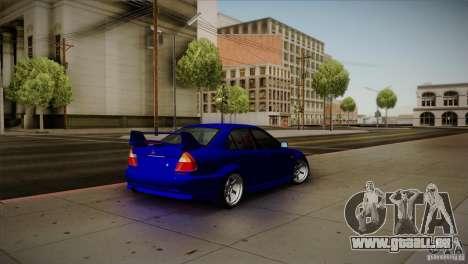 Mitsubishi Lancer Evolution lX pour GTA San Andreas sur la vue arrière gauche
