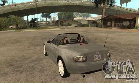 Mazda MX-5 2007 für GTA San Andreas zurück linke Ansicht