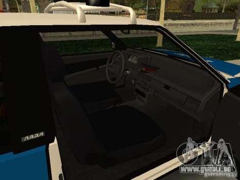 VAZ 2108 Police pour GTA San Andreas vue de droite