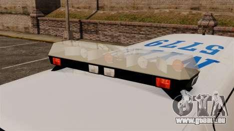 Polizei Speedo für GTA 4 Rückansicht