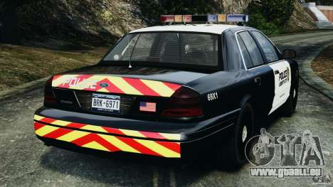 Ford Crown Victoria Police Interceptor 2003 LCPD für GTA 4 hinten links Ansicht