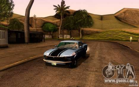 Ford Mustang Boss 302 pour GTA San Andreas salon