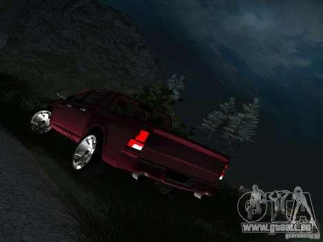 Dodge Ram 1500 Longhorn 2012 für GTA San Andreas Rückansicht