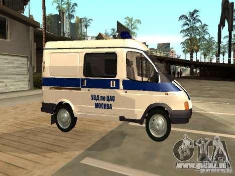 GAZ 2217 Sobol POLICE pour GTA San Andreas laissé vue