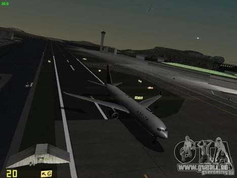 Boeing 767-400ER Delta Airlines für GTA San Andreas obere Ansicht