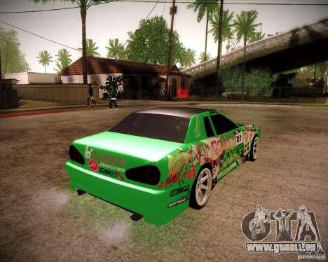 Elegy Toy Sport v2.0 Shikov Version pour GTA San Andreas sur la vue arrière gauche