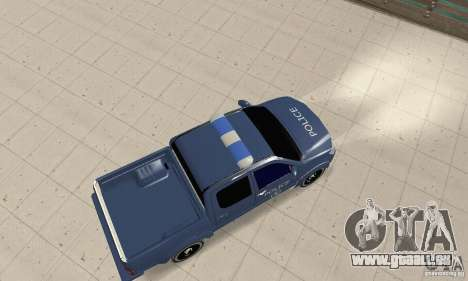 Toyota Hilux Somaliland Police pour GTA San Andreas sur la vue arrière gauche