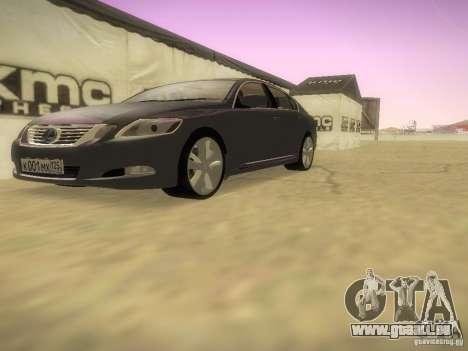 Lexus GS450H pour GTA San Andreas vue intérieure