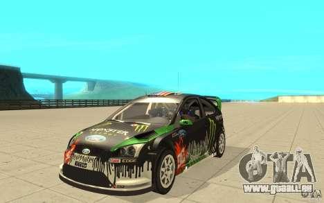 Ford Focus RS WRC 08 pour GTA San Andreas vue intérieure