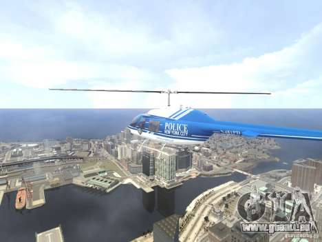 Bell 206 B - NYPD für GTA 4 Innen