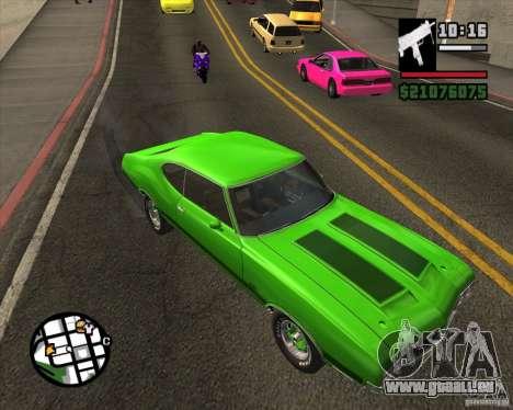 Oldsmobile 442 (fixed version) pour GTA San Andreas vue de droite