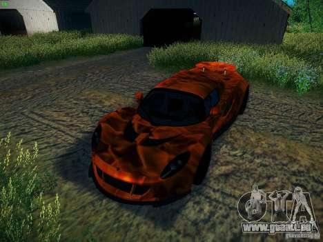 Hennessey Venom GT Spyder für GTA San Andreas obere Ansicht